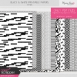 Black & White Printable Papers Kit #5