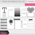 Pocket Card Templates Kit #5 - 3x4