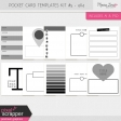 Pocket Card Templates Kit #5 - 4x4