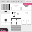 Pocket Card Templates Kit #5 - 4x6
