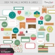 Deck The Halls Words & Labels Kit