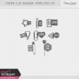 Paper Clip Banner Templates Kit