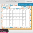 The Good Life: April 2020 Calendars Kit