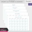 The Good Life: January 2021 Planner & Calendar Kit