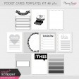 Pocket Card Templates Kit #6 3x4