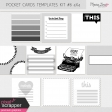 Pocket Card Templates Kit #6 4x4
