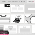 Pocket Card Templates Kit #6 4x6