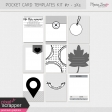 Pocket Card Templates Kit #7 - 3x4