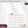 The Good Life: February 2021 Planner & Calendar Kit