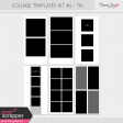Photo Collage Templates Kit - Travelers Notebook