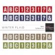 Winter Plaid Alphas Kit