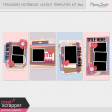 Travelers Notebook Layout Templates Kit #24