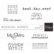 Wedding Words Kit #1