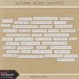 Autumn Art Word Snippets Kit