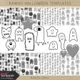 Kawaii Halloween Templates Kit