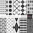 Argyle Paper Templates 1-10 Kit