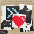 Video Game Valentine Papers Kit #3