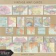 Vintage Map Cards Kit