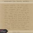Handwritten Travel Words Kit