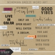 Bohemian Breeze Word Art Kit
