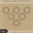 Thankful Harvest Text Circles