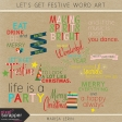 Let's Get Festive Word Art Kit