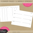 Planner Pages Kit - Weekly Spreads #1 & #2