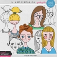 Mixed Media 6 - Quirky Girls
