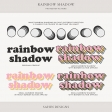 Rainbow Shadow Photoshop Actions