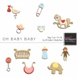 Oh Baby Baby Blog Train - Wood Ornaments Kit