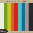 Colorful Autumn Solid Papers