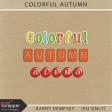Colorful Autumn Alphas