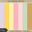 Ice Cream Social Solid Papers
