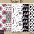 Rocker Girl_patterned papers