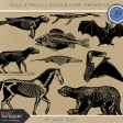 Chills & Thrills - Skeleton Stamp Template Kit 1
