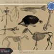 Chills & Thrills - Skeleton Stamp Template Kit 3