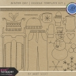 Winter Day - Doodle Template Kit 3