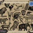 At the Zoo - Stamp Template Kit