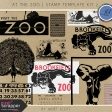 At The Zoo - Stamp Template Kit 2