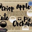Apple Crisp - Word Art Shapemask Template Kit