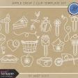 Apple Crisp - Clip Doodle Template Kit