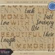 Enjoy Each Moment - Word Art Kit
