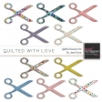 Quilted With Love - Quilted Scissors Kit