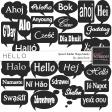 Hello - Speech Bubble Shape Mask Kit