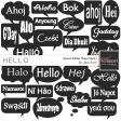 Hello - Speech Bubble Shape Mask Kit