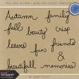Fall Into Autumn - Word Art Doodle Templates