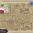 Strawberry Fields - Doodle Template Kit 1