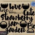 Strawberry Fields - Word Art Template Kit
