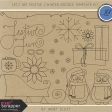 Let's Get Festive - Winter Doodle Template Kit