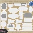 Toolbox Calendar 2 - Doodled Tag Shape Mask Kit